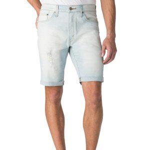 New Men's Light Denim Cuffed Shorts Sz 42